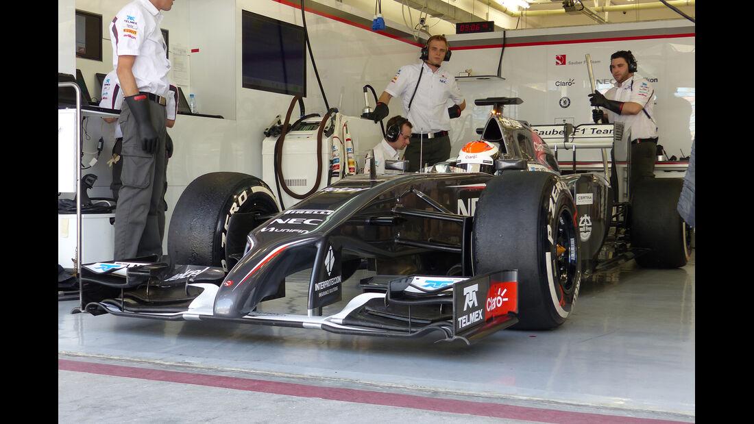 Adrian Sutil - Sauber - Formel 1 - Test - Bahrain - 1. März 2014