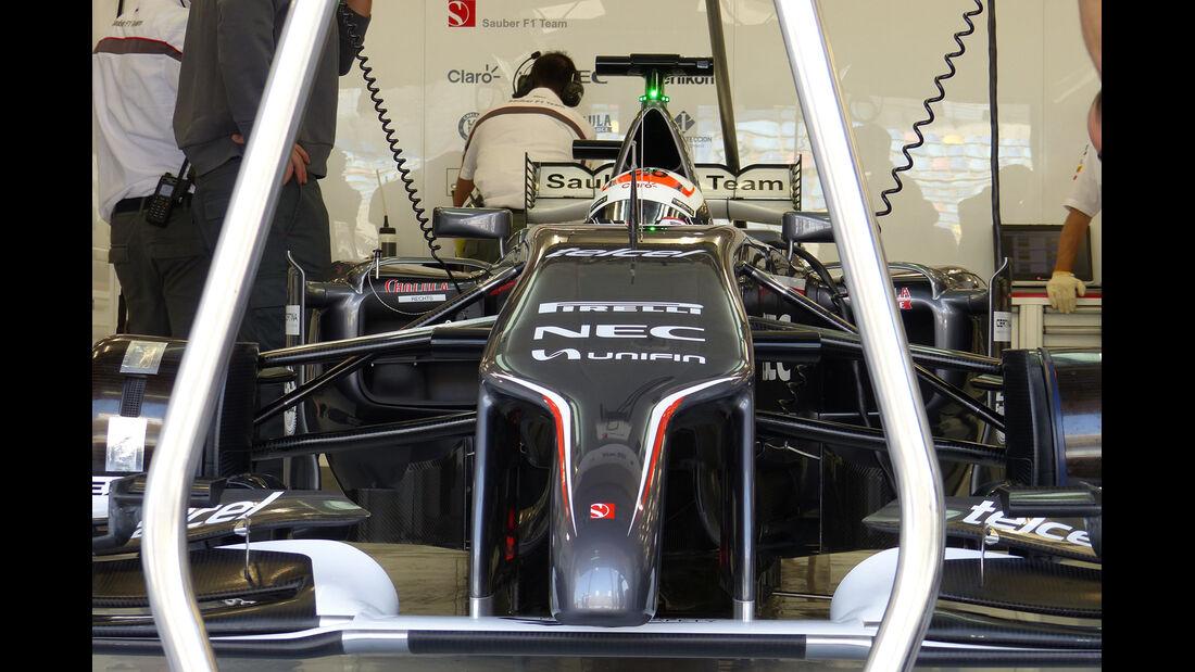 Adrian Sutil - Sauber - Formel 1 - Test - Bahrain - 19. Februar 2014
