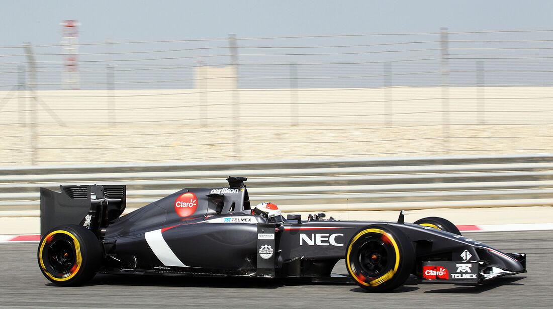 Adrian Sutil - Sauber - Formel 1 - Test - Bahrain . 27. Februar 2014