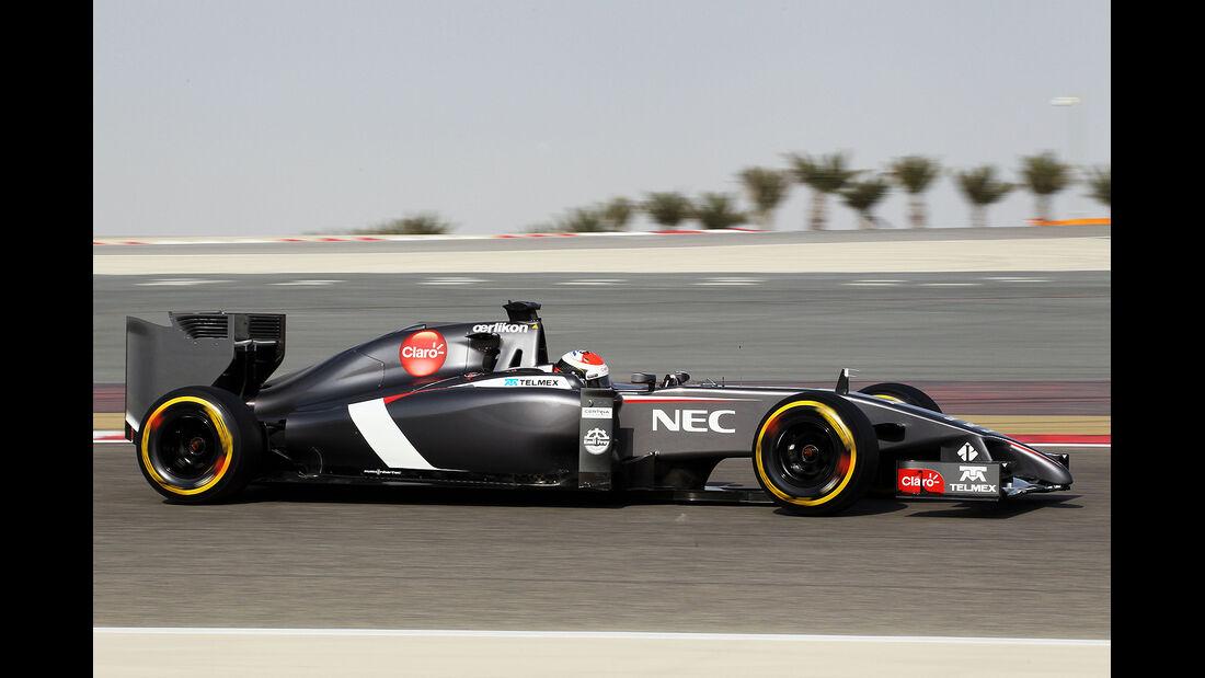 Adrian Sutil - Sauber - Test - Bahrain - 27. Februar 2014