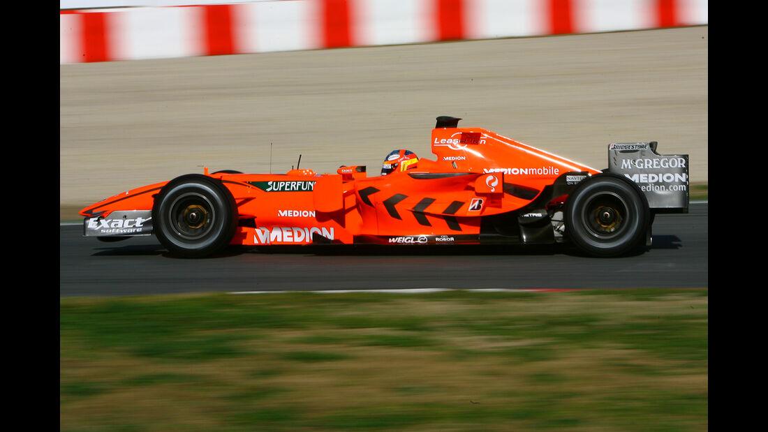 Adrian Sutil - Spyker - Test - Barcelona - 2007