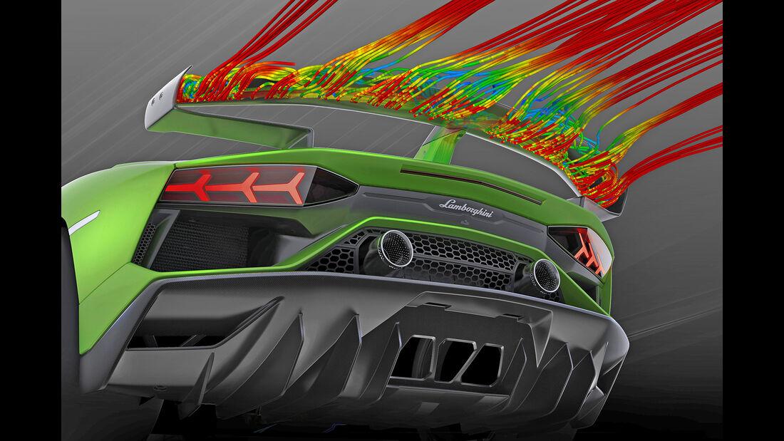 Aerodynamik bei Sportwagen, Lamborghini