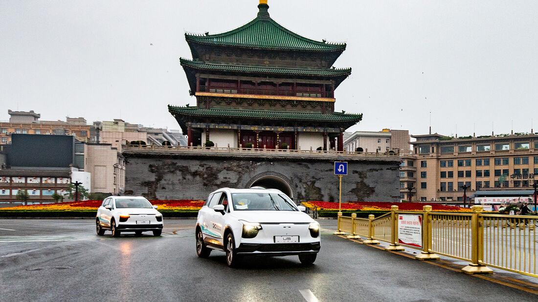 Aiways U5, Erprobungsfahrt, China