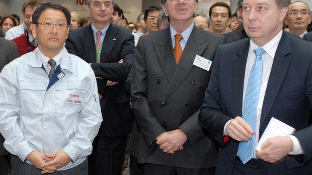Akio Toyoda und Toyota-Vizechef Didier Leroy