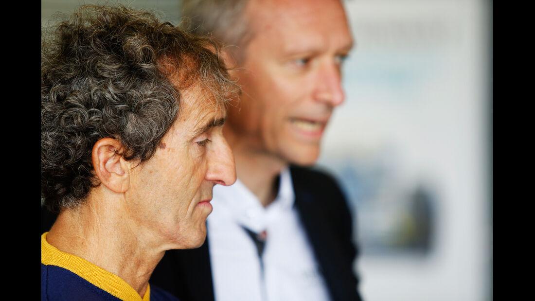 Alain Prost - Formel E-Test - Donington - 07/2014