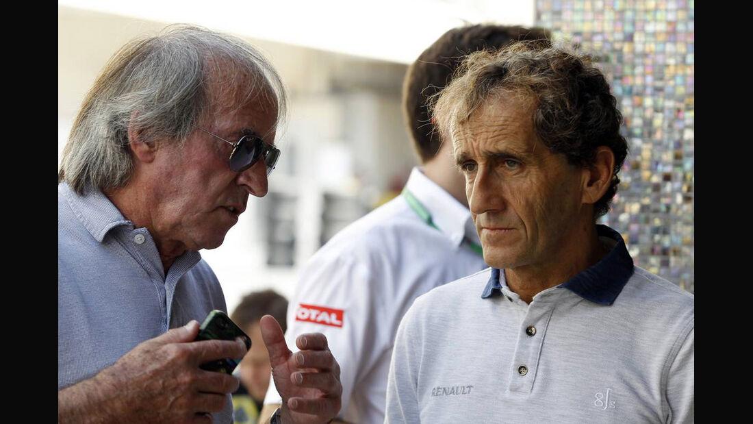 Alain Prost - Jacques Laffitte - Formel 1 - GP Abu Dhabi - 02. November 2013