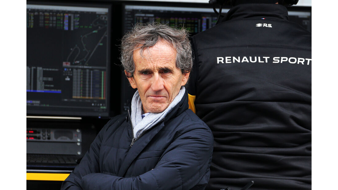 Alain Prost - Renault - Barcelona F1-Test 2018 - Tag 1