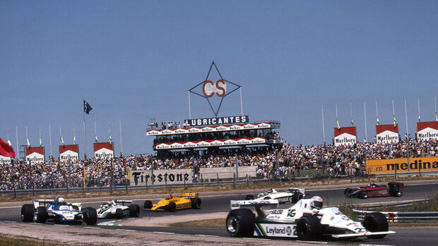 Alan Jones - Williams FW07 - Didier Pironi - Ligier JS11/15 - Nelson Piquet - Brabham BT49 - GP Spanien 1980 - Jarama