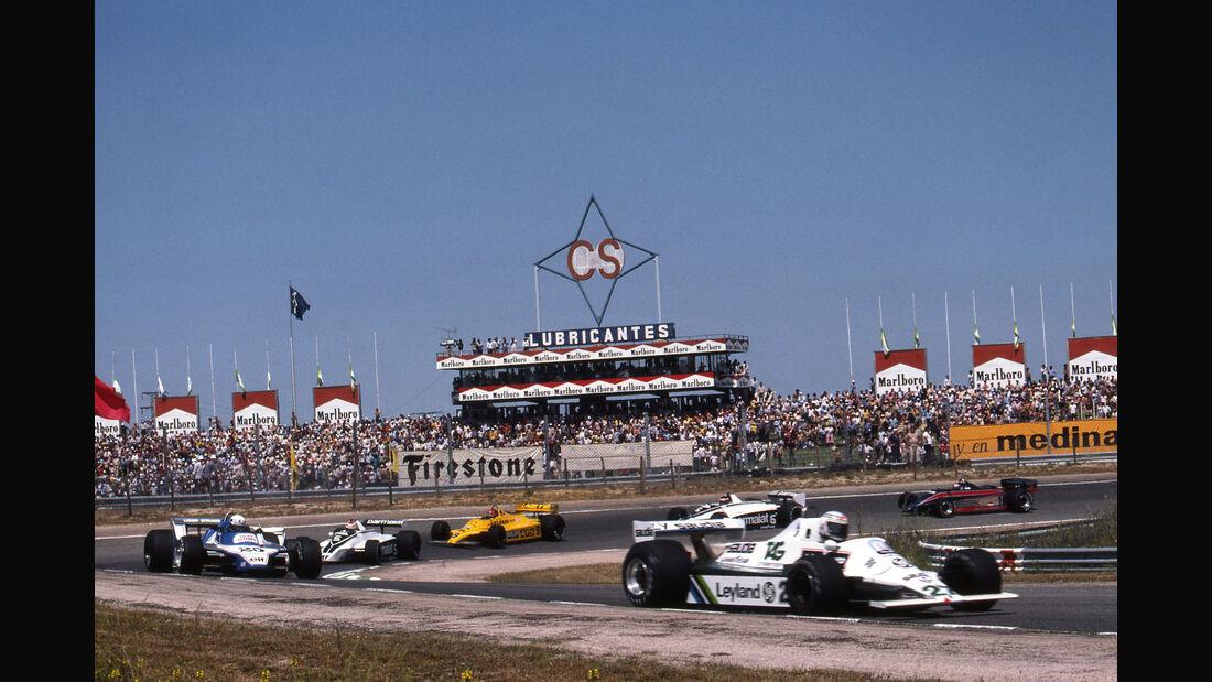 Alan Jones - Williams FW07 - Didier Pironi - Ligier JS11/15 - Nelson Piquet - Brabham BT49 - GP Spanien 1980 - Jarama