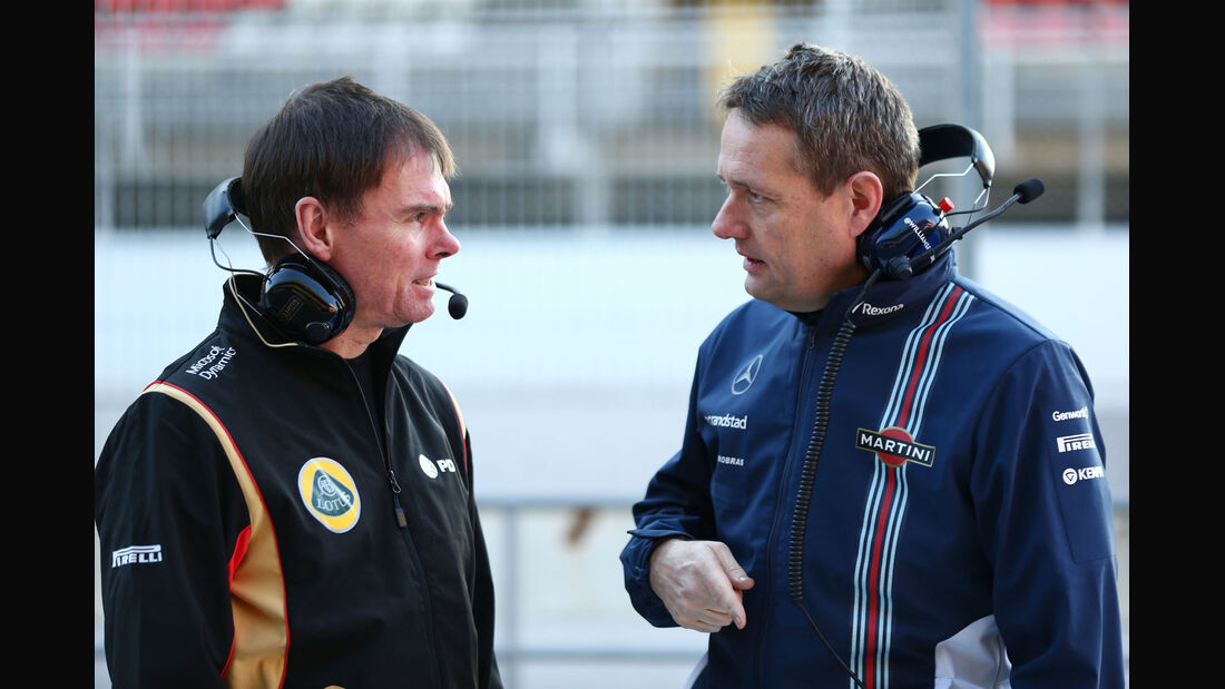 Alan Permane - Lotus - Steve Nielsen - Williams - Formel 1-Test - Barcelona - 19. Februar 2015