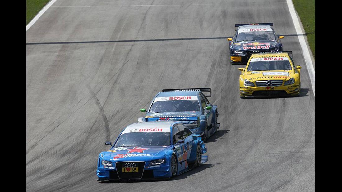 Albuquerque, Vietoris, Coulthard, Molina, Mercedes C-Klasse DTM, Audi A4 DTM, DTM, Spielberg 2011