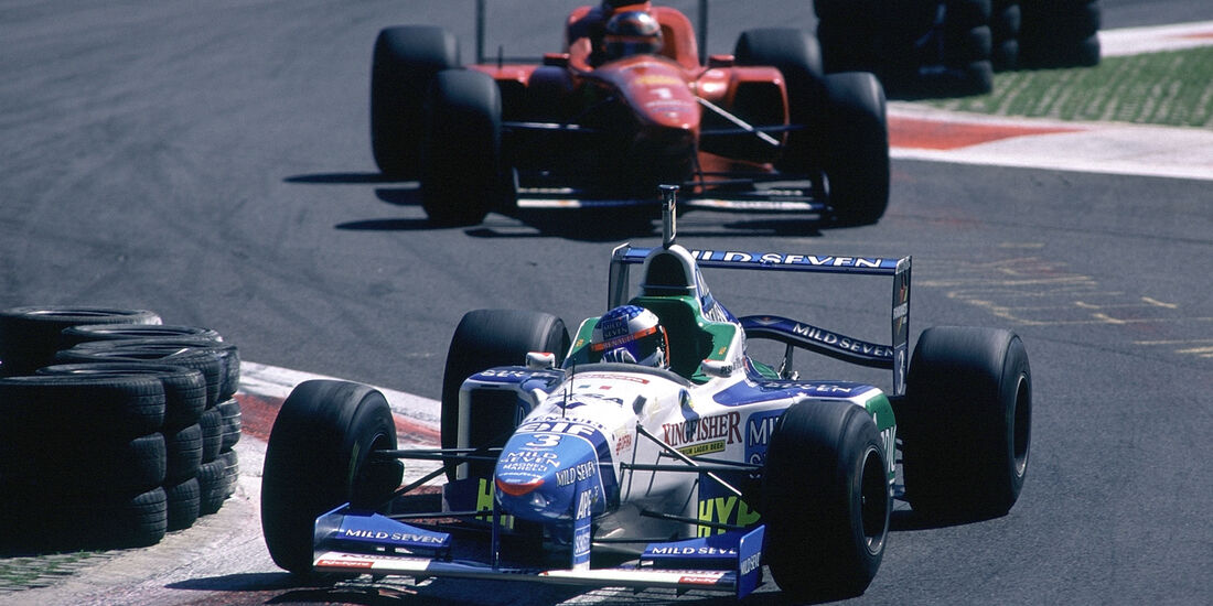 Alesi Benetton Schumacher Ferrari 1996 GP Italien
