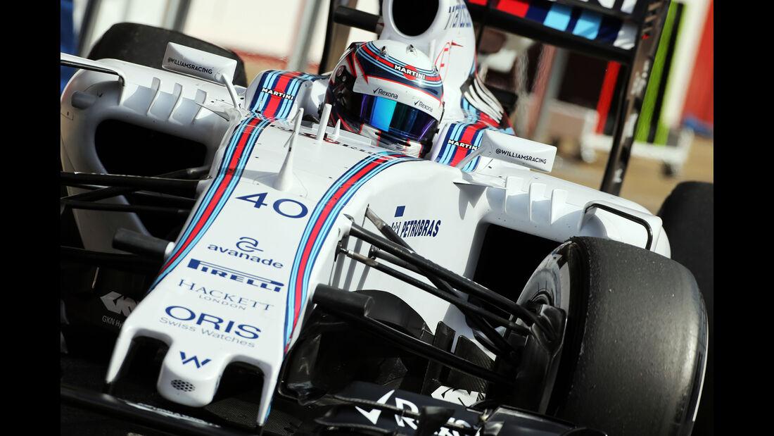 Alex Lynn - Williams - Formel 1-Test - Barcelona - 13. Mai 2015