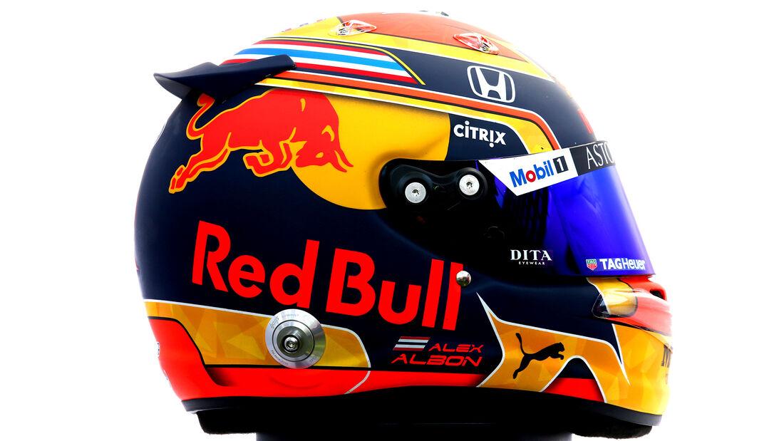Alexander Albon - Porträt & Helm - Formel 1 - 2020