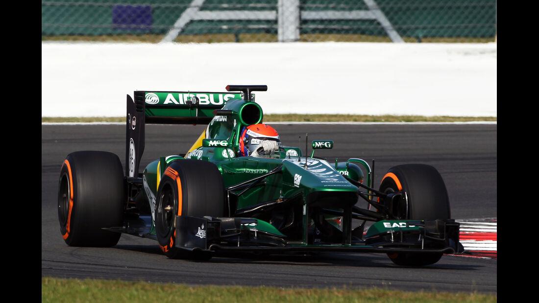 Alexander Rossi - Caterham - Young Driver Test - Silverstone - 17. Juli 2013
