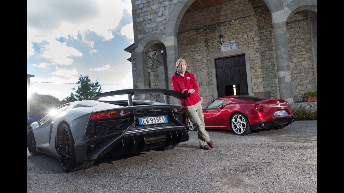 Alfa 4C, Lamborghini Aventador LP750  SV, Marcus Peters