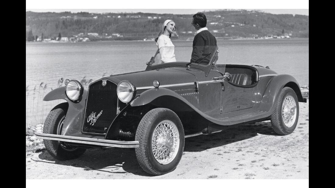 Alfa 4R Zagato, Seitenansicht