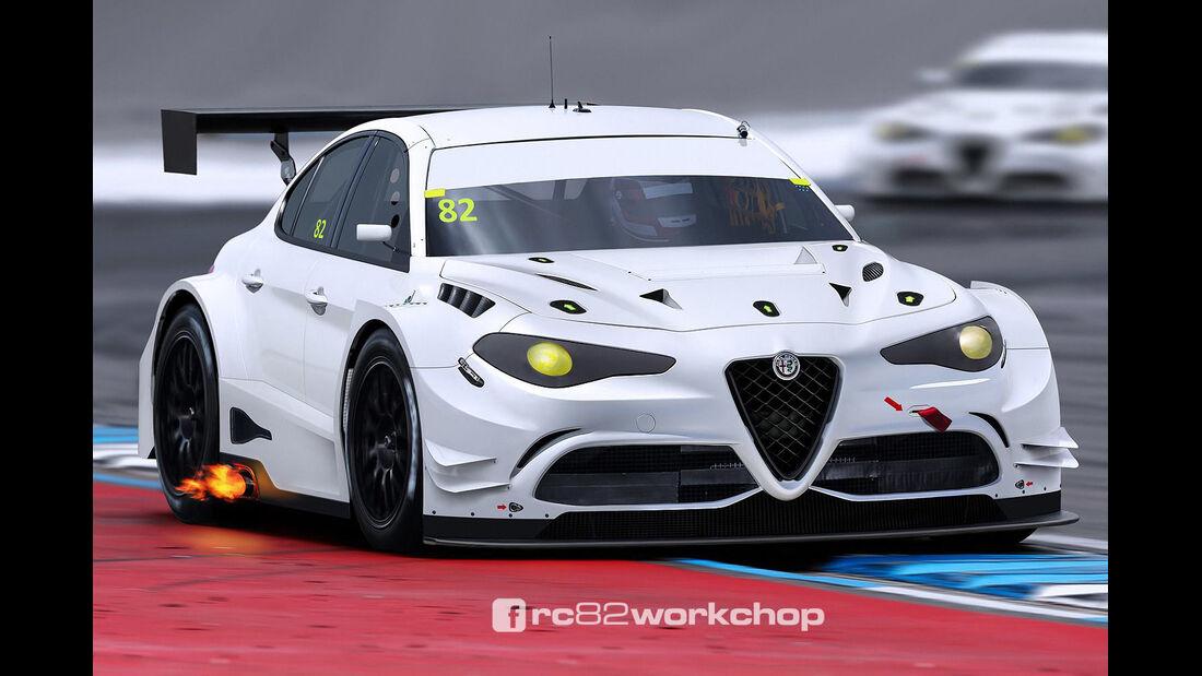 Alfa Giulia WTCC - Photoshop