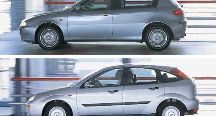 Alfa Romeo 147 1.9 JTD gegen Ford Focus 1.8 TDCI