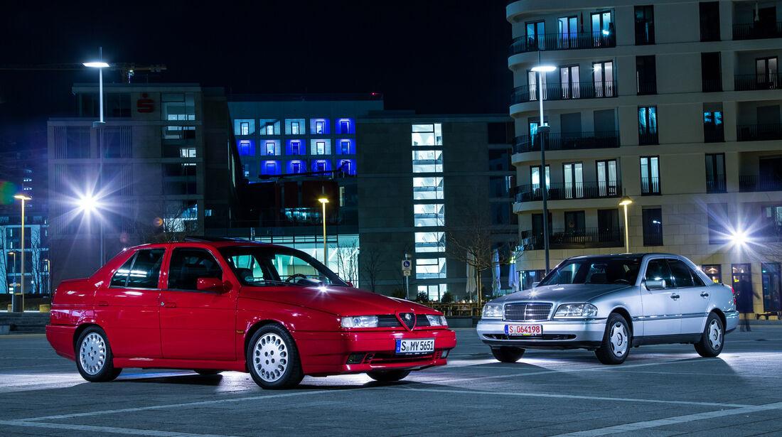 Alfa Romeo 155 2.0 Twin Spark, Mercedes C 180, Seitenansicht