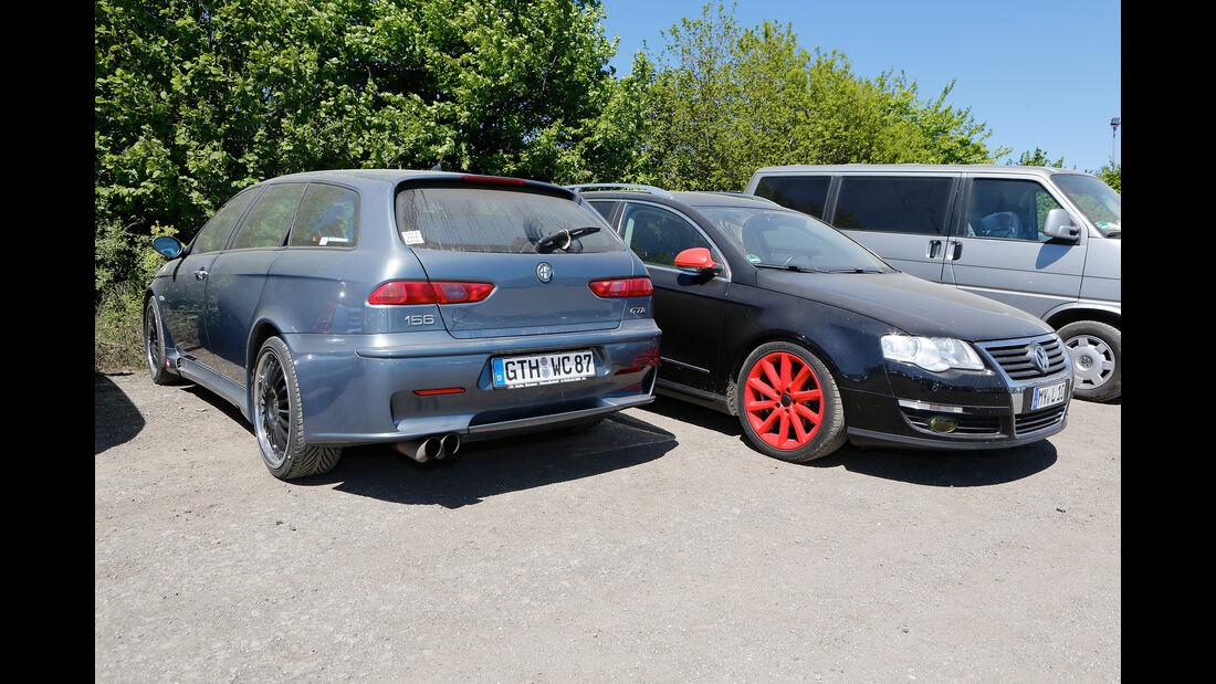 Alfa Romeo 156 GTR - VW Passat - Fan-Autos - 24h-Rennen Nürburgring 2017 - Nordschleife