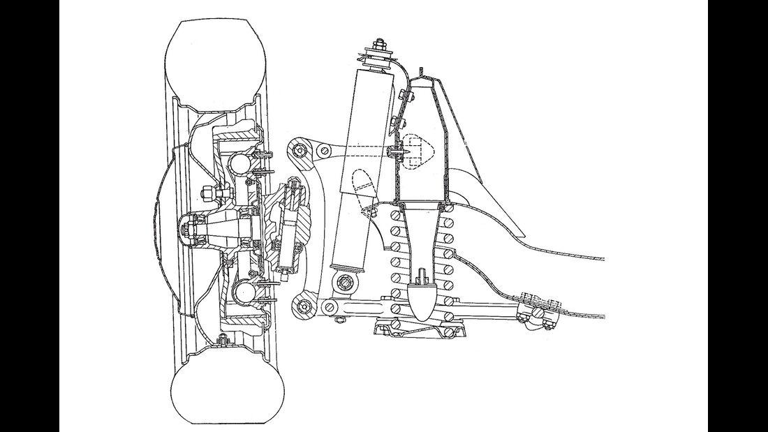 Alfa Romeo 1900 Sprint Coupé Pinin Farina, Vorderradaufhängung