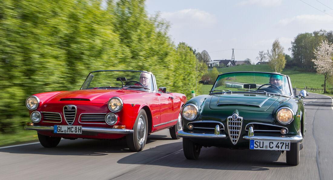 Alfa Romeo 2600 Spider, Alfa Romeo Giulia 1600 Spider, Frontansicht