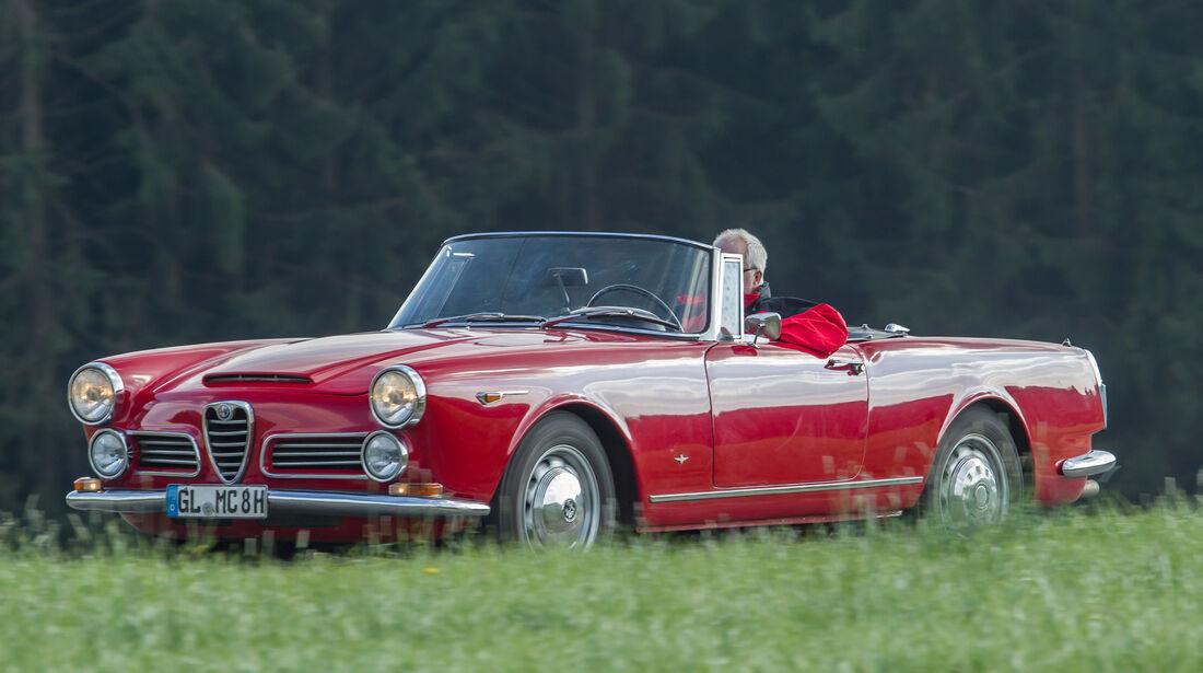 Alfa Romeo 2600 Spider, Seitenansicht