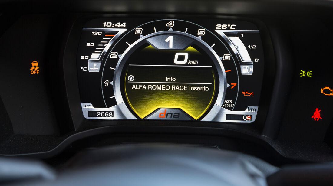 Alfa Romeo 4C, Anzeige, Rundinstrument