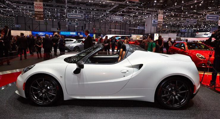 Alfa Romeo 4C Cabrio, Genfer Autosalon, Messe, 2014