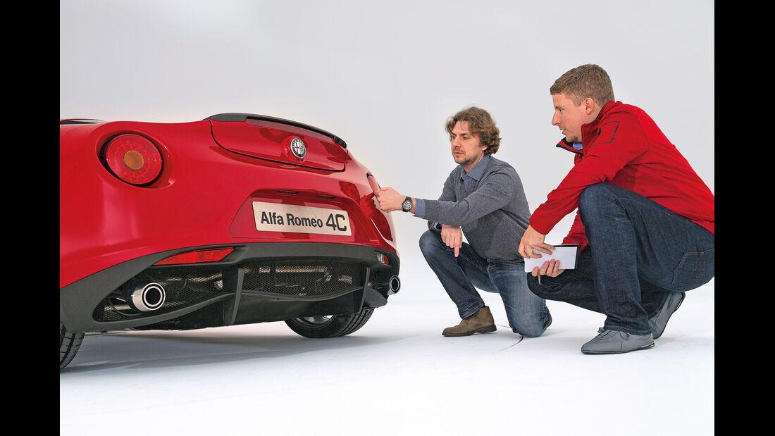 Alfa Romeo 4C, Heck, Heckleuchten