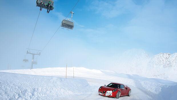Alfa Romeo 4C, Seitenansicht, Drift