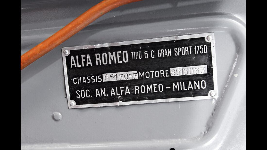Alfa Romeo 6C 1750 GS, Herstellerplakertte