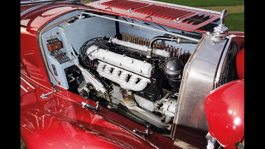 Alfa Romeo 6C 1750 GS, Motorraum