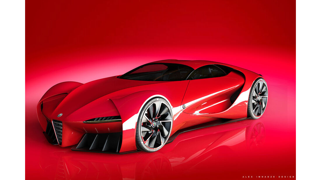 Alfa Romeo 6c DiscoVolante - Sportwagen - Grafikkünstler