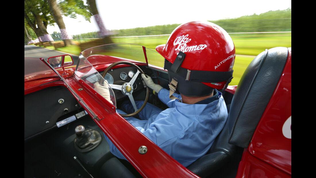 Alfa Romeo 750 Competizione, Fahrersicht