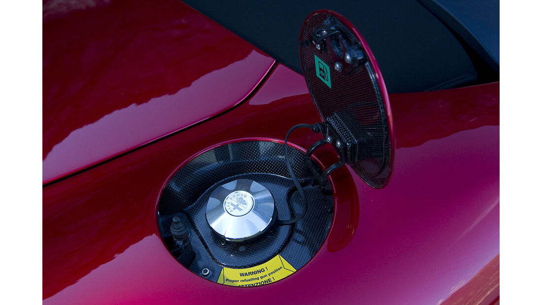 Alfa Romeo 8C Spider, Tankdeckel