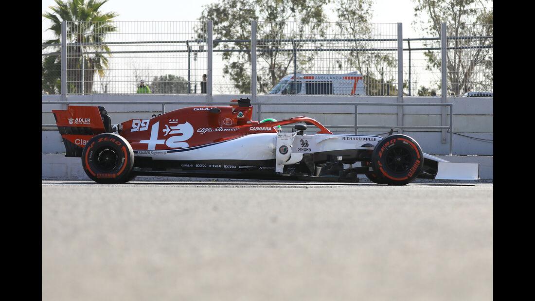 Alfa Romeo - Abmessungen - Barcelona-Test 2019