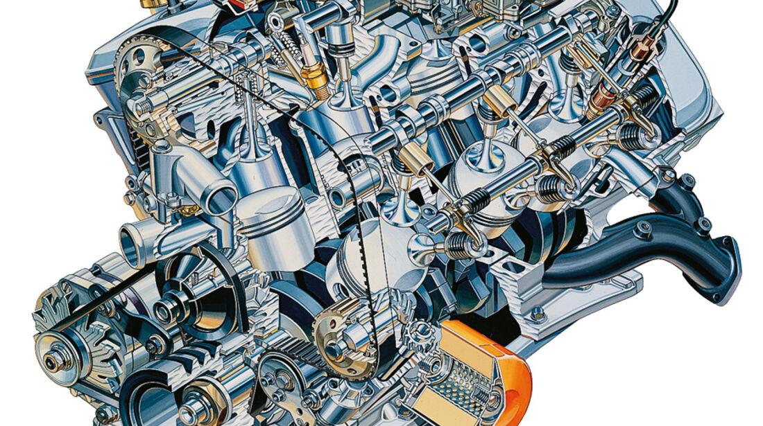 Alfa Romeo Alfa 6 Skizze Motor