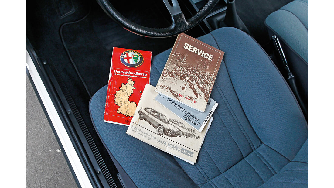 Alfa Romeo Alfasud 1.5, Papiere