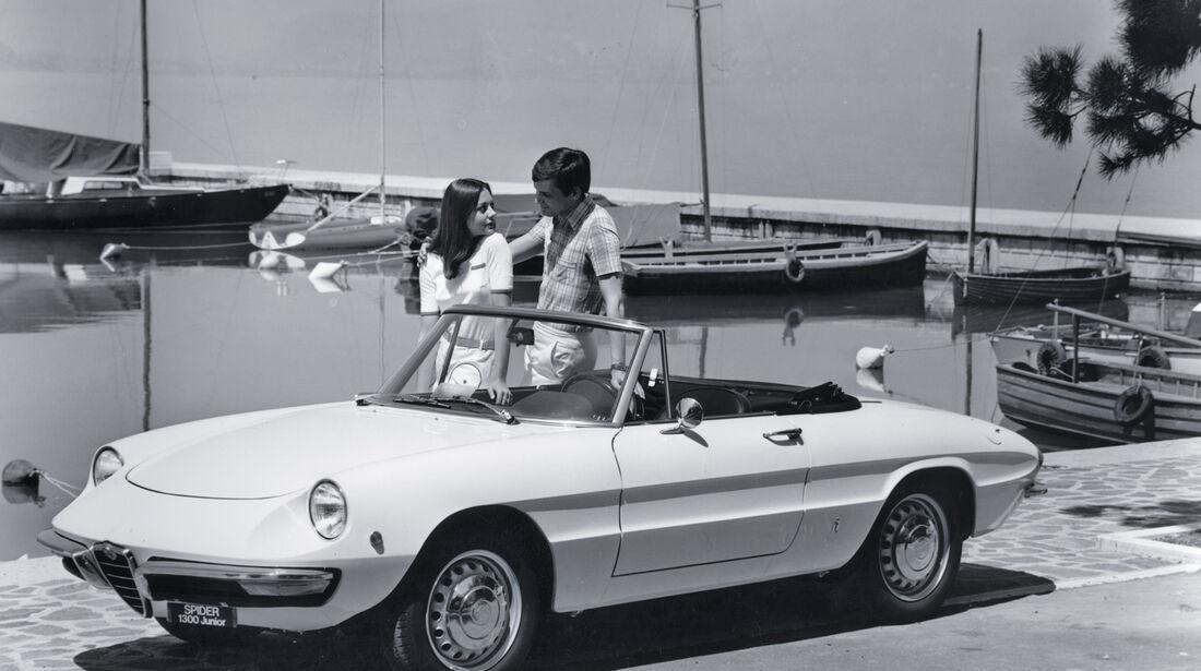 Alfa Romeo Duetto, Seitenansicht