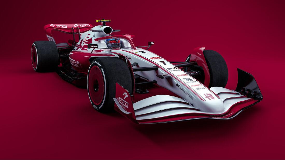 Alfa Romeo - F1-Auto 2022 - Team-Lackierung
