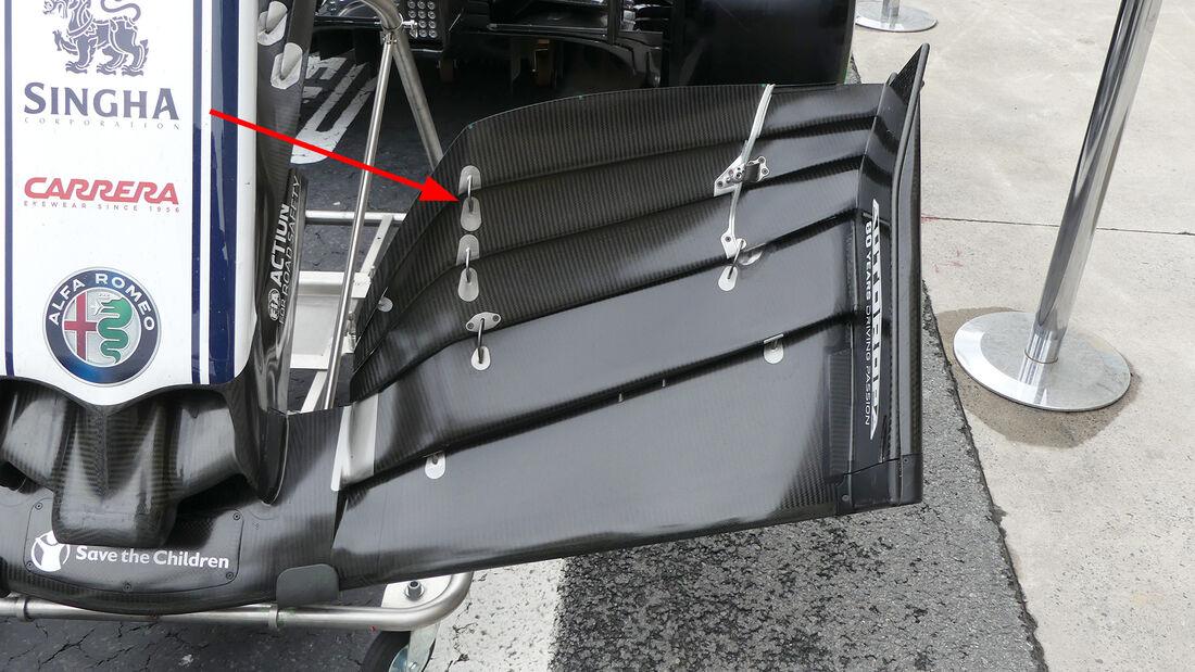 Alfa Romeo - F1-Technik 2019 - Frontflügel
