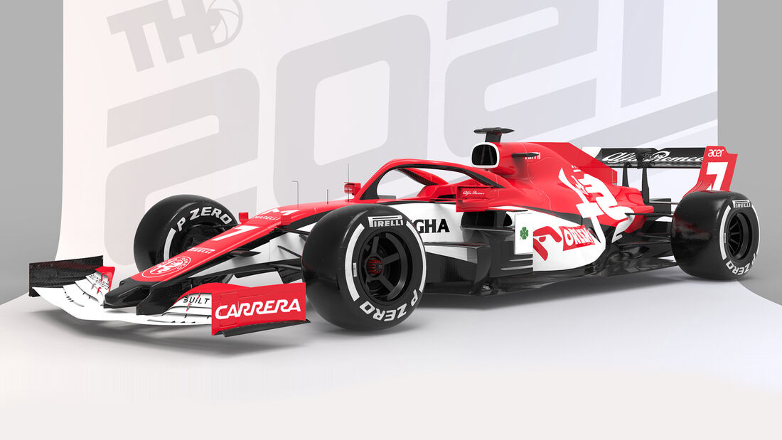 Alfa Romeo - Formel 1 - Livery-Concept 2021 - Tim Holmes Design