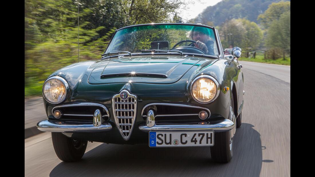 Alfa Romeo Giulia 1600 Spider, Frontansicht