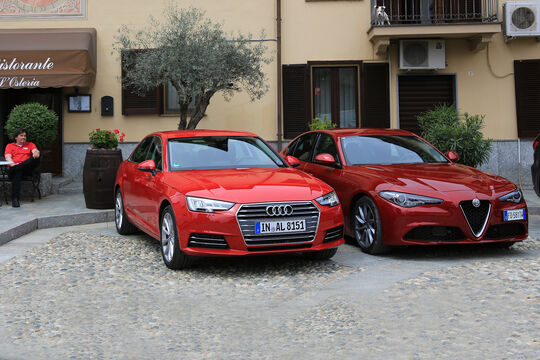 Alfa Romeo Giulia, Audi A4, Seitenansicht