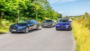 Alfa Romeo Giulia, Jaguar XE, Peugeot 508