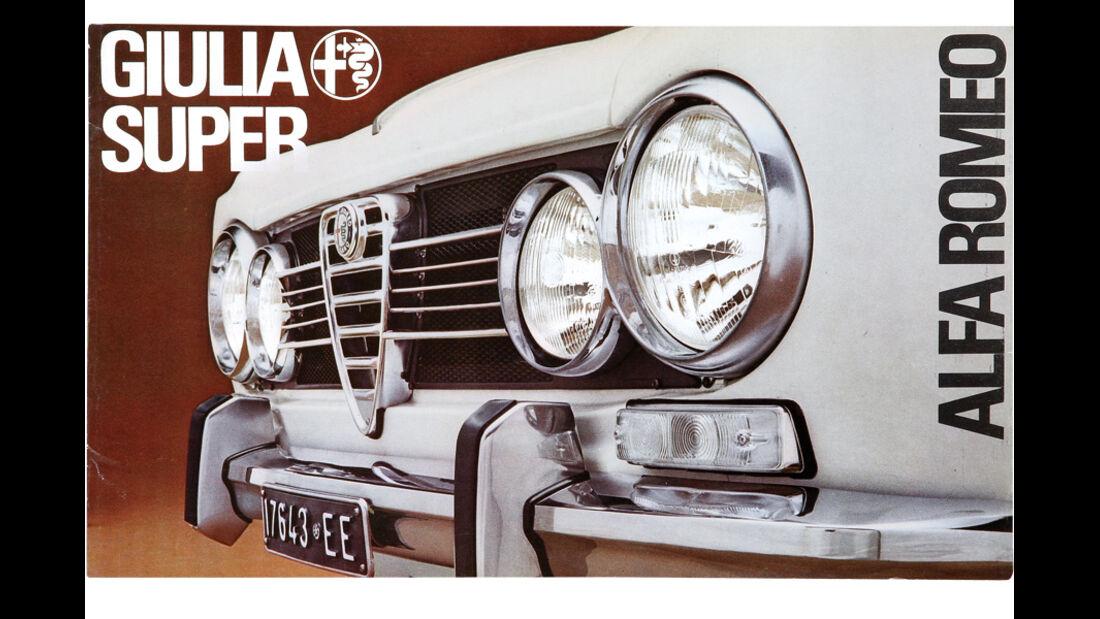 Alfa Romeo Giulia, Leporello-Prospekt