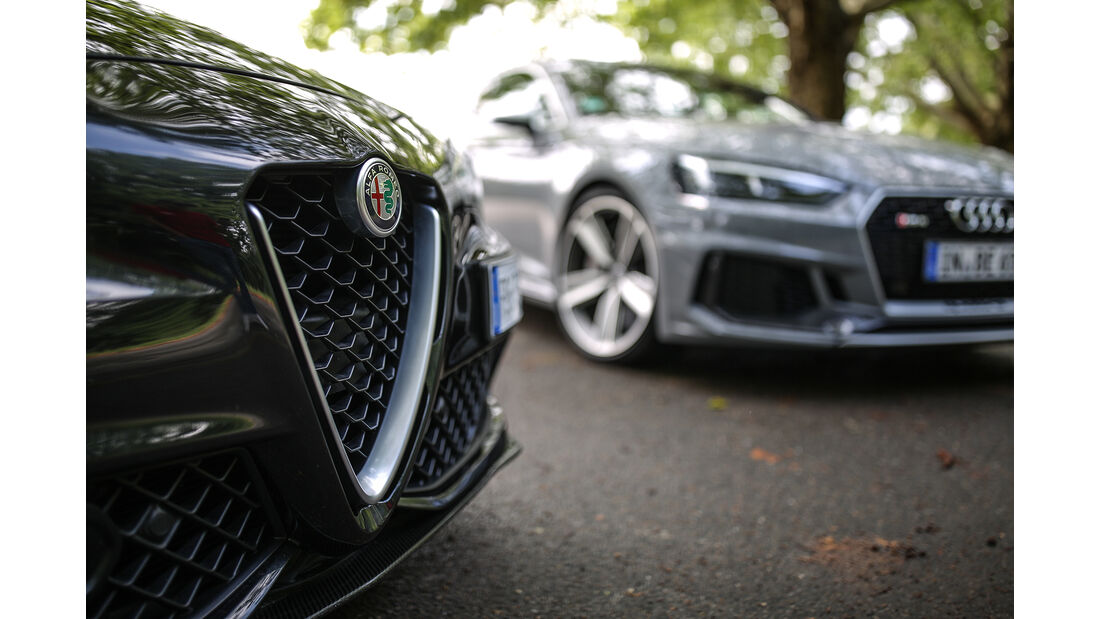 Alfa Romeo Giulia QV, Audi RS 5 Sportback, Exterieur