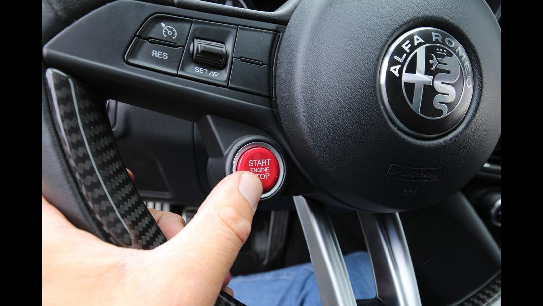 Alfa Romeo Giulia QV, Bedienelemente